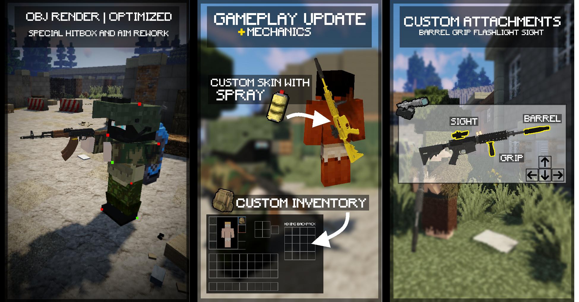 ModularWarfare - Guns & more Minecraft Mod